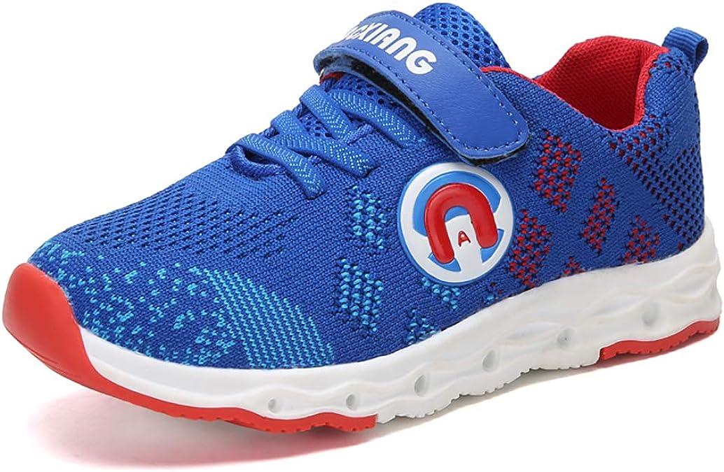 Zapatillas de Deporte para niños Zapatillas de Running de Primavera y Verano con Malla de Velcro Zapatillas de Deporte Transpirables Unisex Fly Wire Zapatos para Correr: Amazon.es: Zapatos y complementos