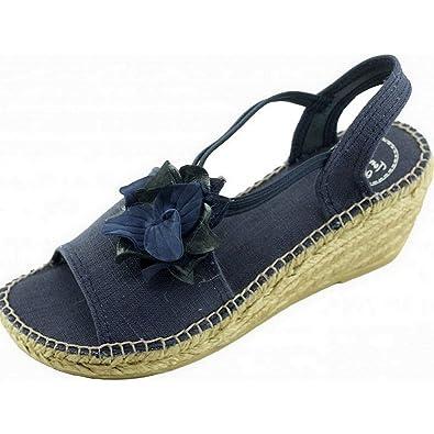 Isabelle Marque Pons Chaussures Espadrille Compensée Toni Fleurs A lKcu1JT5F3
