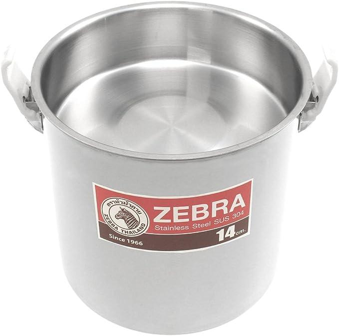 ZEBRA Edelstahl Bushcraft Kochtopf Billy Can - mit Einsatz 16cm 3 Liter f/ür 3 Personen