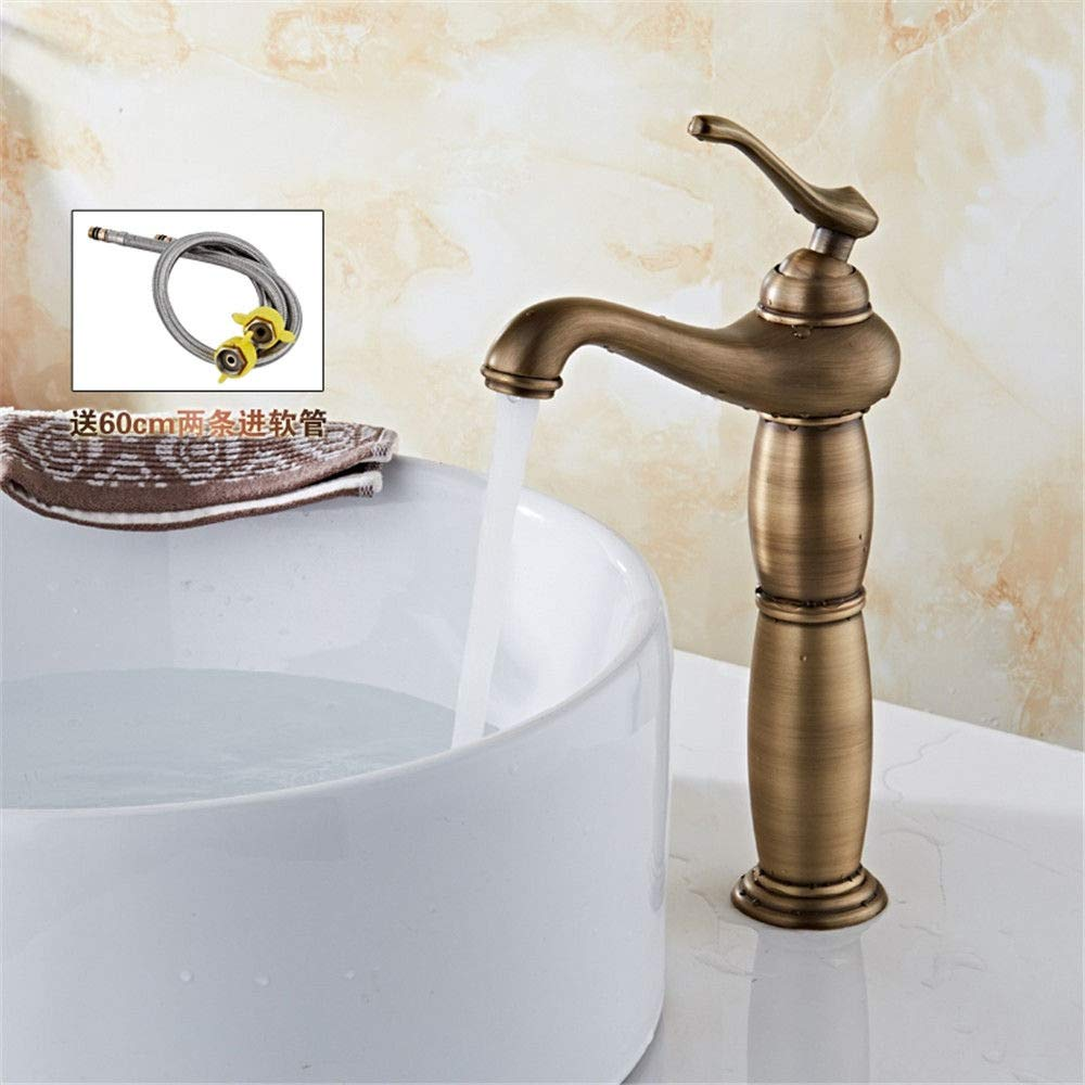 L Hlluya Professional Sink Mixer Tap Kitchen Faucet Antique and cold water faucets full copper antique fittings,