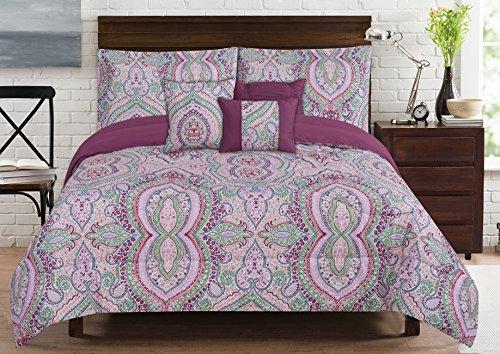 RT Designers Collection Brisbane 6 Piece Printed Comforter Set, (Brisbane Quilt Set)