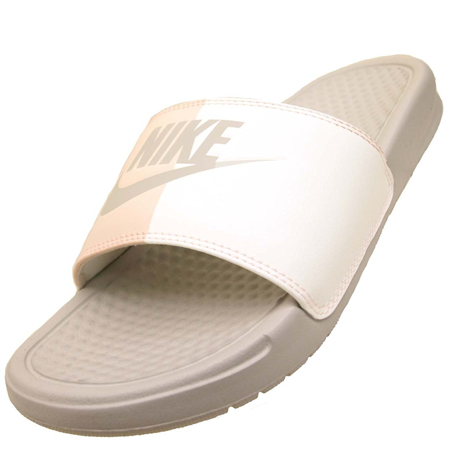 50499a1f1 Galleon - Nike Women s Benassi JDI Sandal 343881 005 (Light Bone Sai ...