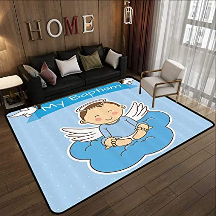 Amazon Com Modern Area Rug With Non Skid Baptism