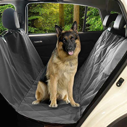 Pet Dog Car Seat Cover - Pet Car Seat Covers For Pet, Back With Hammock For Suvs, Cars, And Trucks, Waterproof & Non-Slip Design by PONY DANCE, Grey - Sling Loveseat