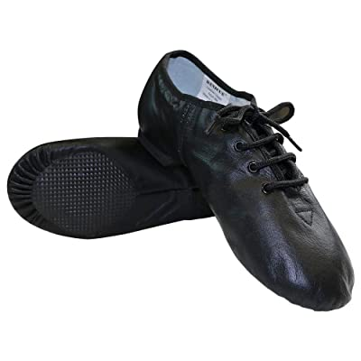 Danzcue Womens Leather Lace up Jazz Shoes | Ballet & Dance