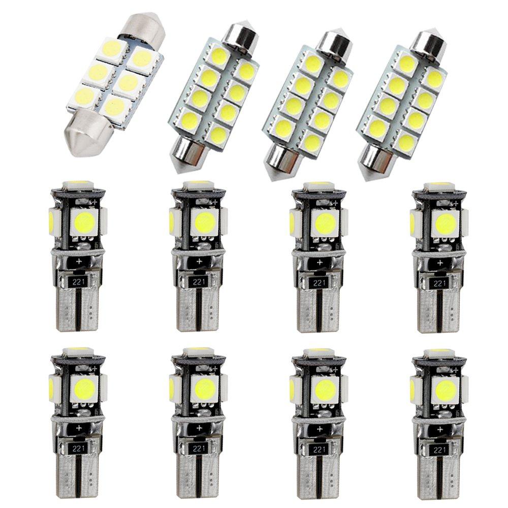 Cobear para 318 320 320i 325 335 E90 E92 Super Brillante Fuente de luz LED Interior Lámpara de Coche Bombillas de Repuesto Blanco Paquete de 12: Amazon.es: ...