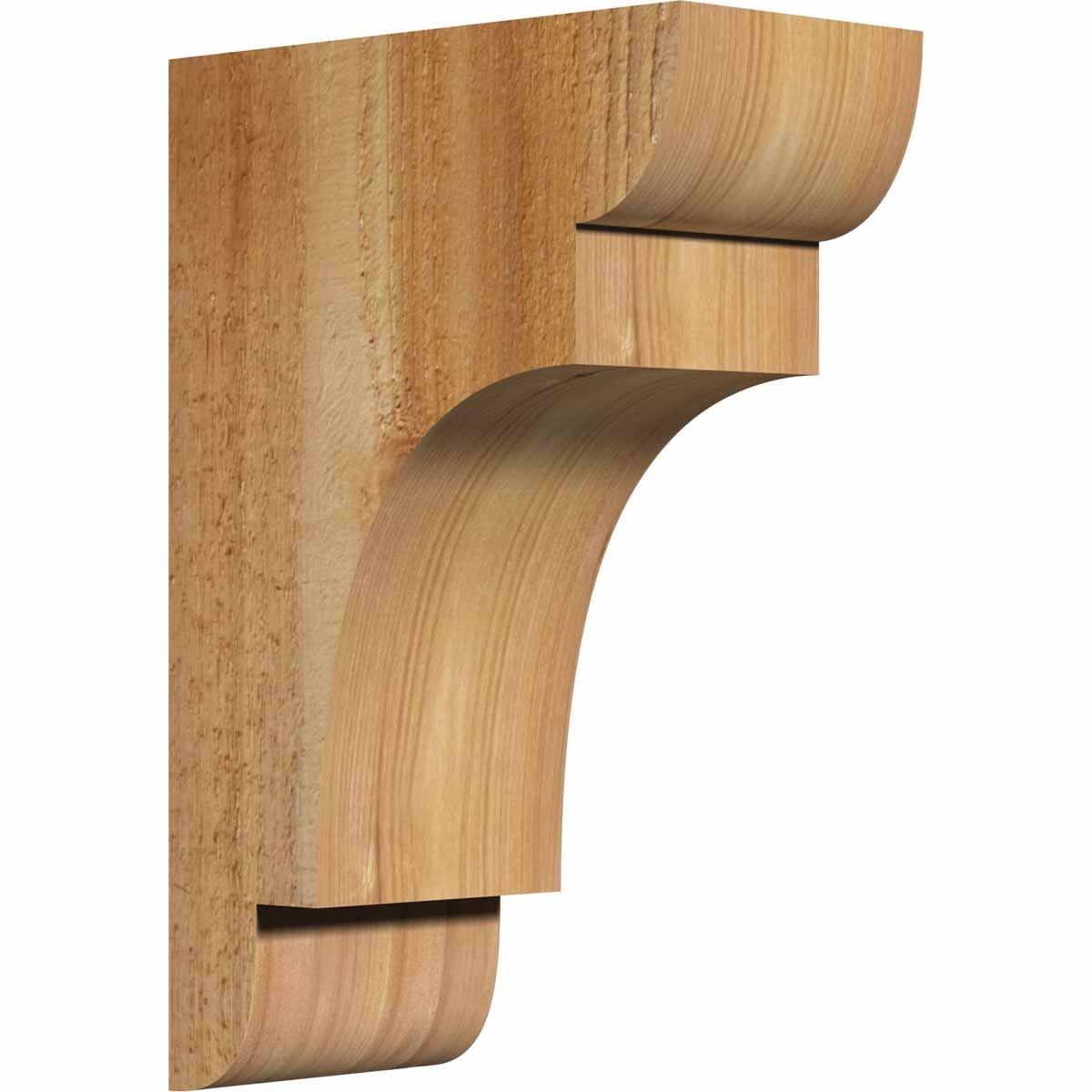 Ekena Millwork COR04X08X12NEB00RWR New Brighton Rough Sawn Corbel, 4'' Width x 8'' Depth x 12'' Height, Western Red Cedar