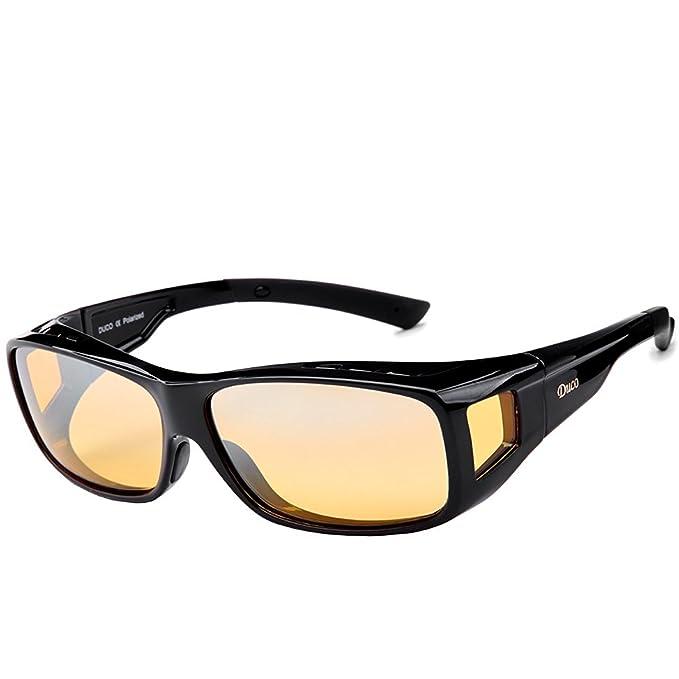 Duco polarizadas gafas de conducción nocturna más Wrap llevarse alrededor de las gafas polarizadas visión nocturna