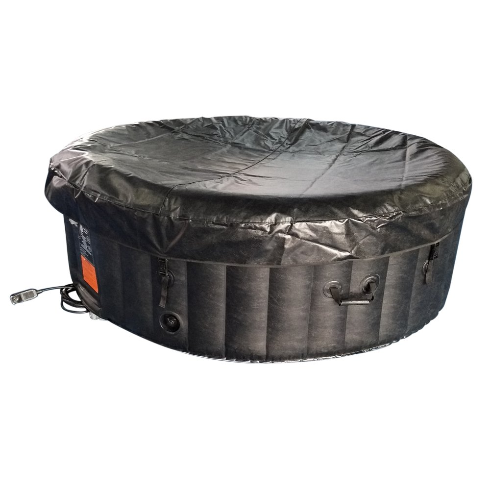 Amazon.com: ALEKO HTIR6BKW Spa inflable redondo con tapa ...