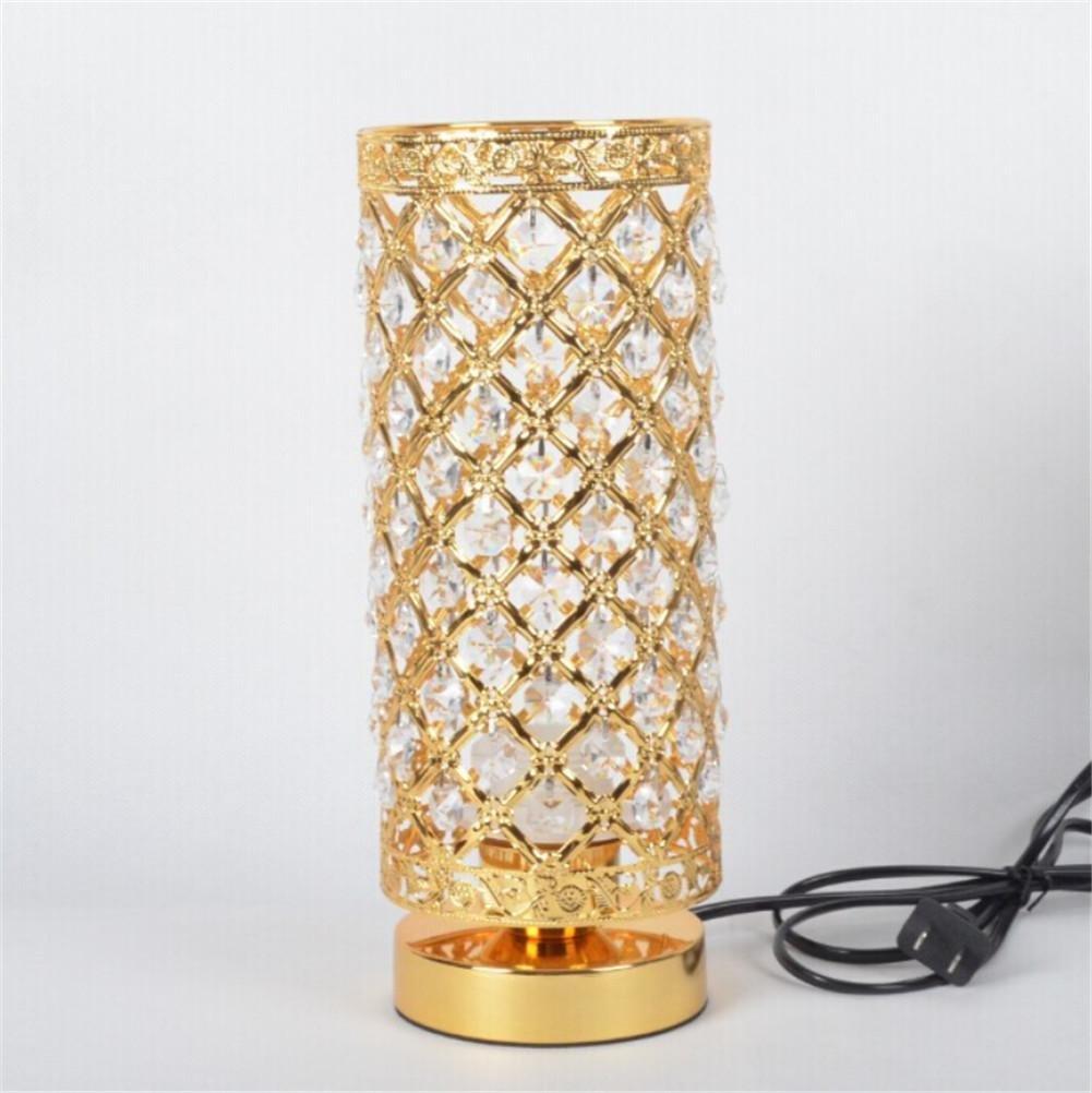 LUCKY CLOVER-AWeihnachten moderne minimalistische Mode kreative Kristall Gold   Silber Tischlampe Büro, Wohnzimmer, Studie, Schlafzimmer, Nachtlicht, Schreibtisch Licht Dekoration , Gold