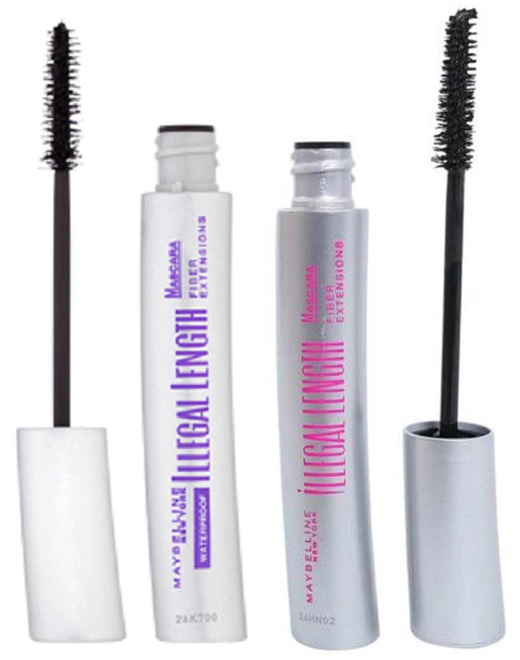 c6a468de357 2 x MAYBELLINE ILLEGAL LENGTH FIBRE EXTENSIONS Mascara Set (Original and  Waterproof) - Black: Amazon.co.uk: Beauty