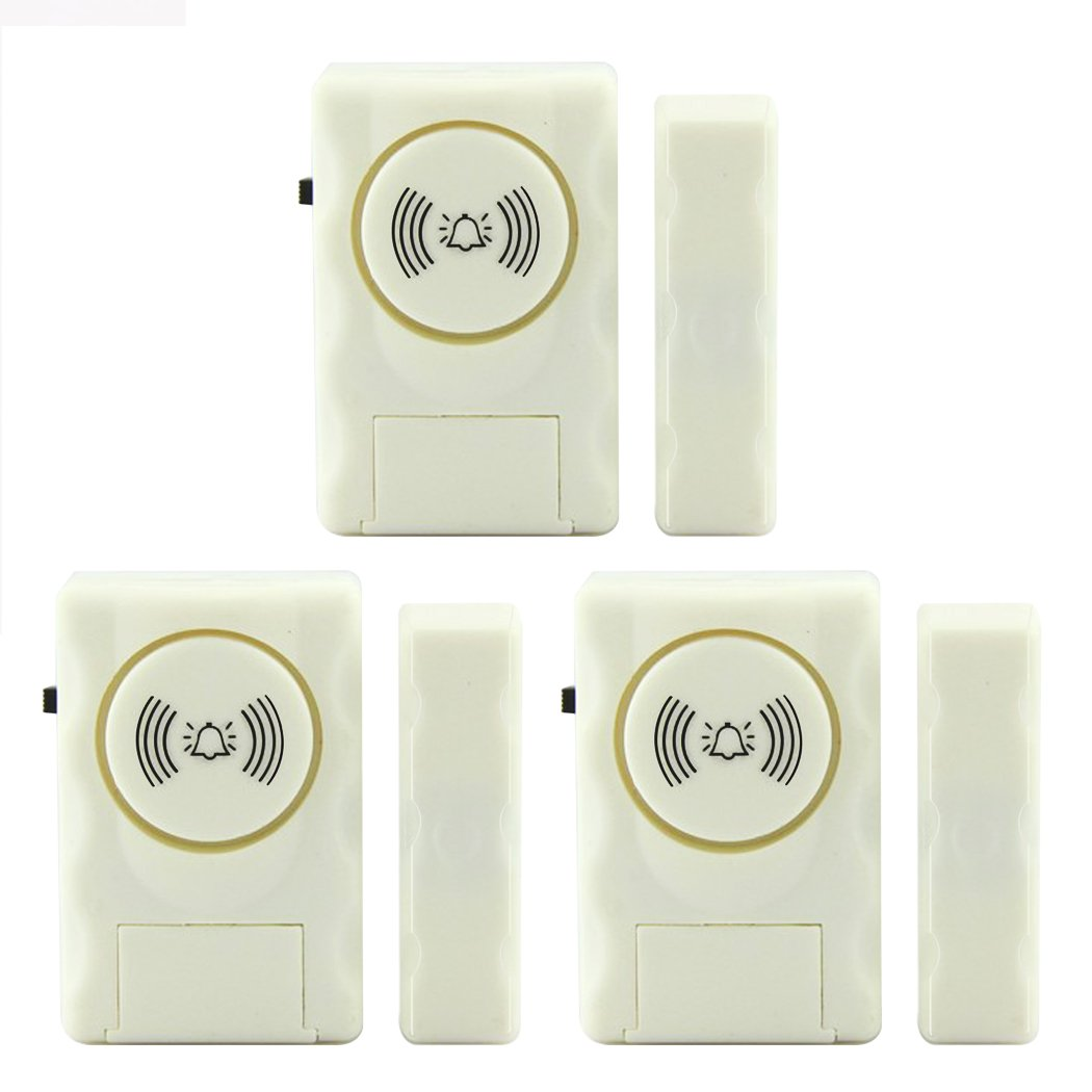 Darho Wireless Family, Office,Bazaar,Apartment Anti-Theft Door And Window Alarm, Loud 105 db Alarms (3, Small)