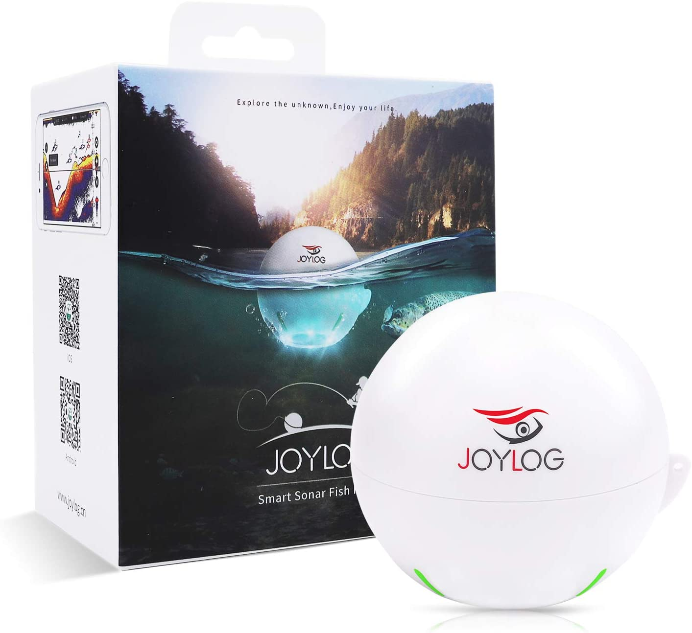 JOYLOG Portable Wireless Bluetooth Fish Finder Smart Sonar Depth Finder