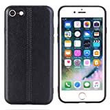 Phone Case for iPhone 7 Plus,Sammid 5.5 inch All-Round Protection Soft Men Women PU Leather Slim Protective Case for iPhone 7/8 Plus - Black