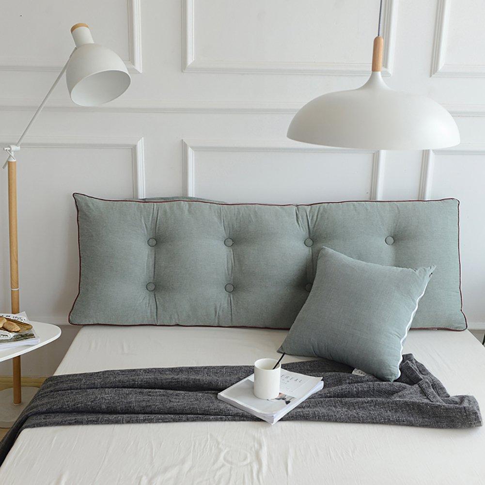 Gewaschener Baumwolle Bett Kopfpolster, Kissen Sofa Soft Bag Tatami Double Lange Kissen Betthaupt Zurück Taille-B 200x50cm(79x20inch)