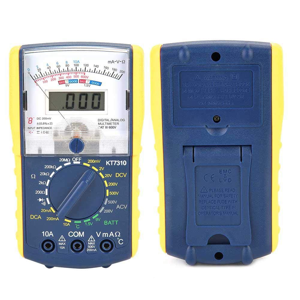 Meiyya Double Display Digital Multimeter,KT7310 High Sensitivity Precision Handheld Double Display Analog Digital Multimeter
