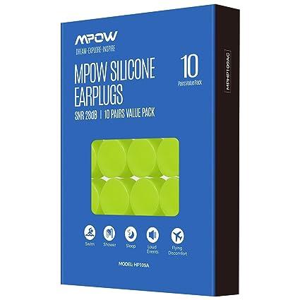Amazon.com: Mpow Tapones para los oídos de natación, 10 ...