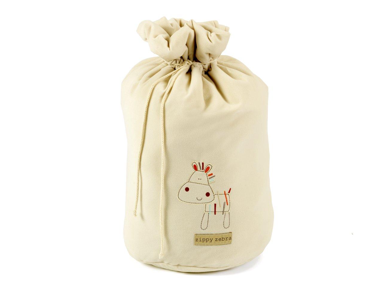 Bed-e-Byes Zippy Zebra - Bolsa para ropa sucia, color beige 280/169/36