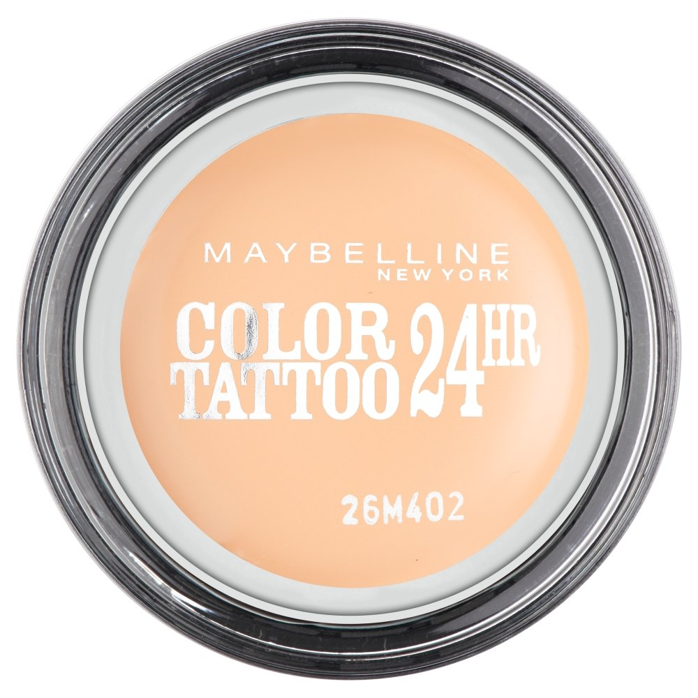 Maybelline Eyestudio Color Tattoo 24H Creme-Gel-Lidschatten Nr. 93 Creme de Nude, leuchtende Farbe dank innovativer Tinten-Technologie, bis zu 24h Halt durch die Creme-Gel-Formel, 4 g Maybelline New York 3600531038274