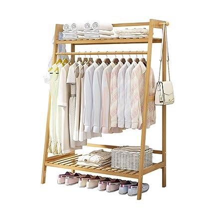 Amazon.com: Coat Stand Hanger Floor Coat Rack Bedroom Shelf ...
