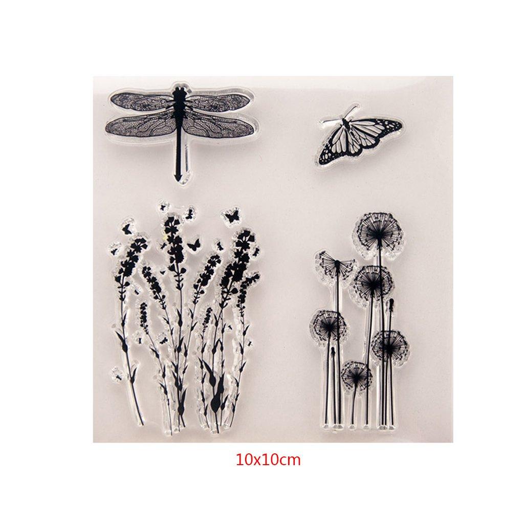 Angelliu tampons Transparents DIY Feuille de Phoque Silicone tampons Transparents Scrapbooking Gaufrage Album Photo Papier D/écoratif Carte Artisanat
