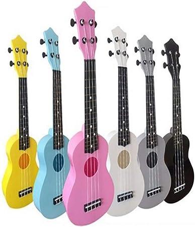 Jiuyizhe Color de 21 Pulgadas de plástico Ukelele pequeña Guitarra ...