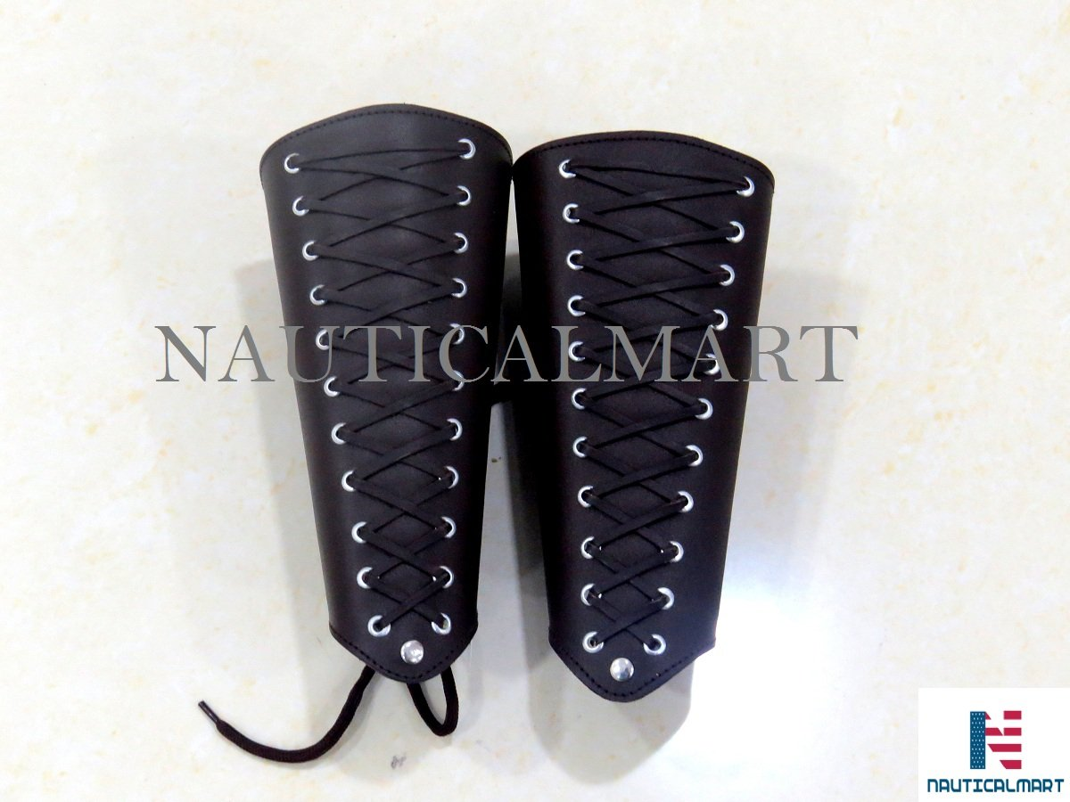 NAUTICALMART Brown Arm Guard Traditional Archery Leather Bracer by NauticalMart