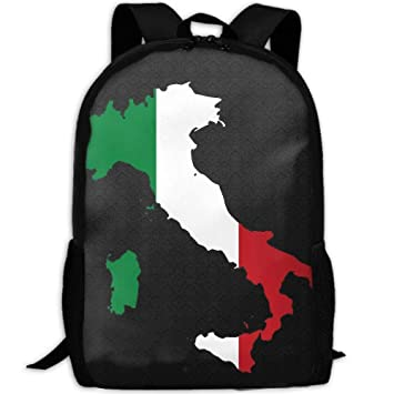 ebe333be636c Amazon.com | Italian Flag Map Unique Outdoor Shoulders Bag Fabric ...