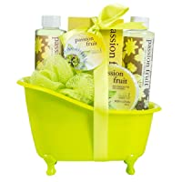 Bath, Body, and Spa Gift Basket for Women, in Passion Fruit Fragrance, includes...
