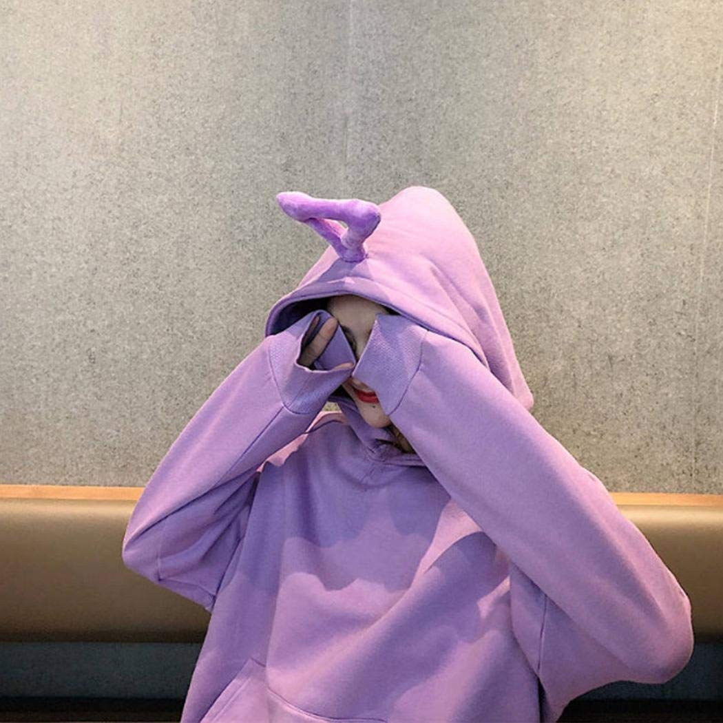 Pinsparkle Women Hooded Sweater Cute Plus Velvet Thickening Long Sleeve Sweatshirt Fashion Hoodies