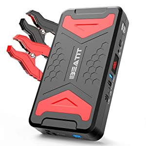 BEATIT BP101 QDSP 2200Amp Peak 12V car Jump Starter (Up to 10.0L Gas and Diesel Engine) 21,000mAh Bank with 100W 110V Portable Power Station Inverter for Outdoor Adventure Load Trip Camping Emergency