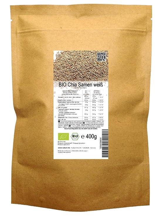 BIO las semillas blancas de Chía («Salvia hispanica»)  1kg