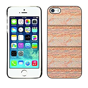 MOBMART Carcasa Funda Case Cover Armor Shell PARA Apple iPhone 5 / 5S - Shiny Brown Four Layered Designs