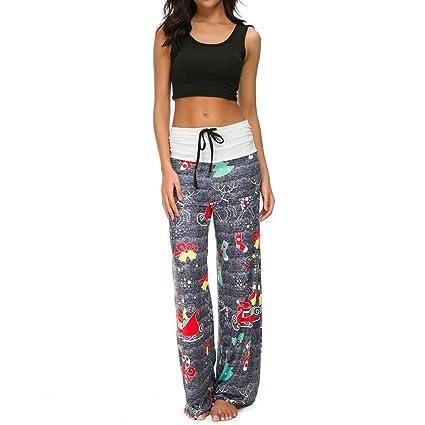 558b1f10628f6 Amazon.com: BOLUOYI Plus Size Capri Yoga Pants Women Christmas ...