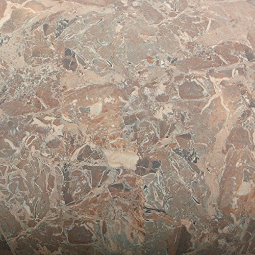 Rosa Marble - ROSEROSA Peel and Stick Flame Retardation PVC Instant Marble Decorative Self-Adhesive Film Countertop Backsplash Rosa Marble (FM4702-1 : 2.00 Feet X 6.56 Feet)