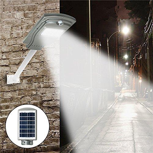 JCHUNL 20W Solarbetriebene Radar-Sensor-Lichtsteuerung LED-Straßenlaterne im Freien wasserdichte Wandlampe New Hot