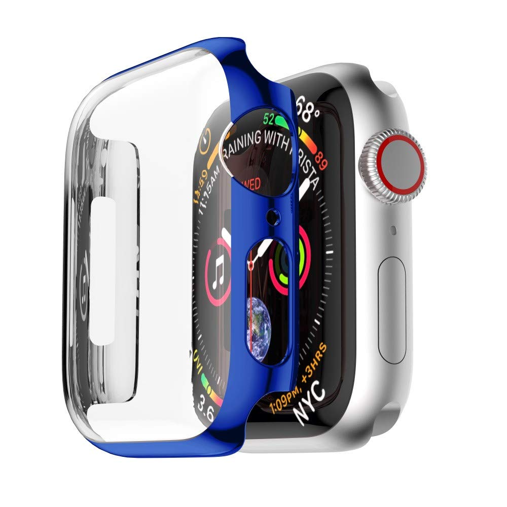 ZTY66 Case for Apple Watch Series 4 40mm//44mm, Soft Ultra Thin PC Plating All-Around Protective Bumper Case Cover for Apple Watch Series 4 40mm/44mm (Blue, Apple Watch 4 44mm)
