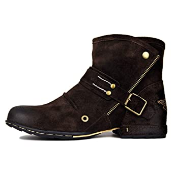 LYMYY Botines de hombre gamuza cuero estilo británico Velcro zapatos retro herramientas botas hombres botas casual zapatos de gran tamaño: Amazon.es: Ropa y ...