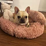 "FANCYDELI Orthopedic Dog Bed Comfortable Donut Cuddler Round Cat Bed (20""/24""/28""/39"")"