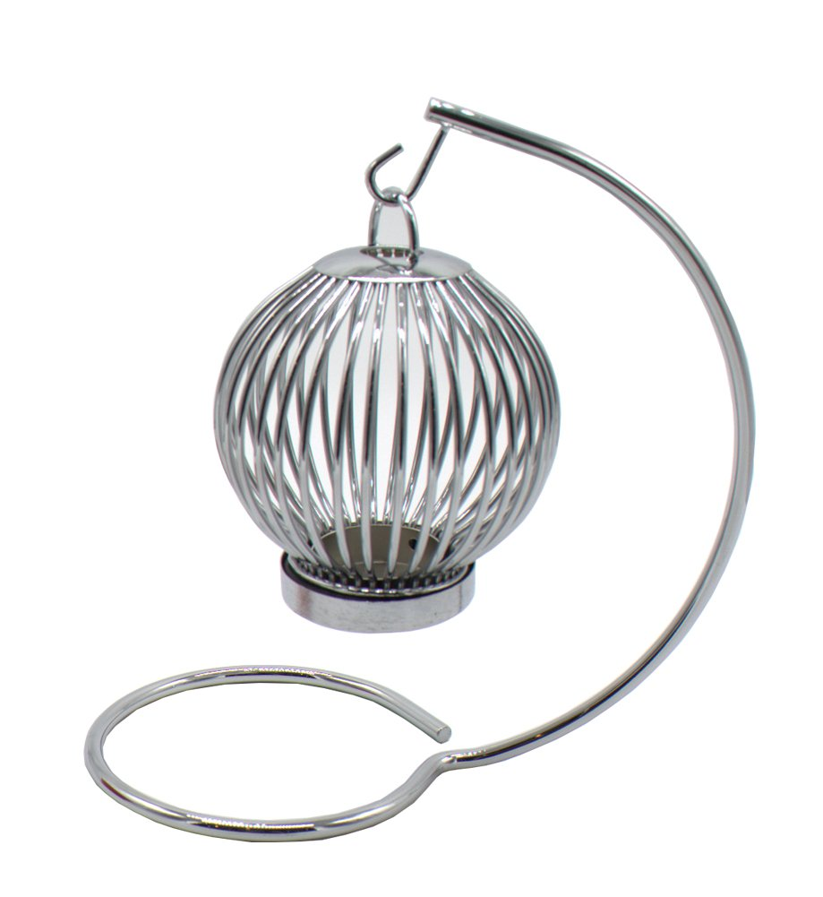 Bao hao Stainless steel single round lantern candlestick  5.32''x9.10''
