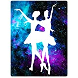 Blanket Sofa Bed Throw Lightweight Cozy Plush Ballet Beauty Dance Purple Galaxy Nebula 30''x40''