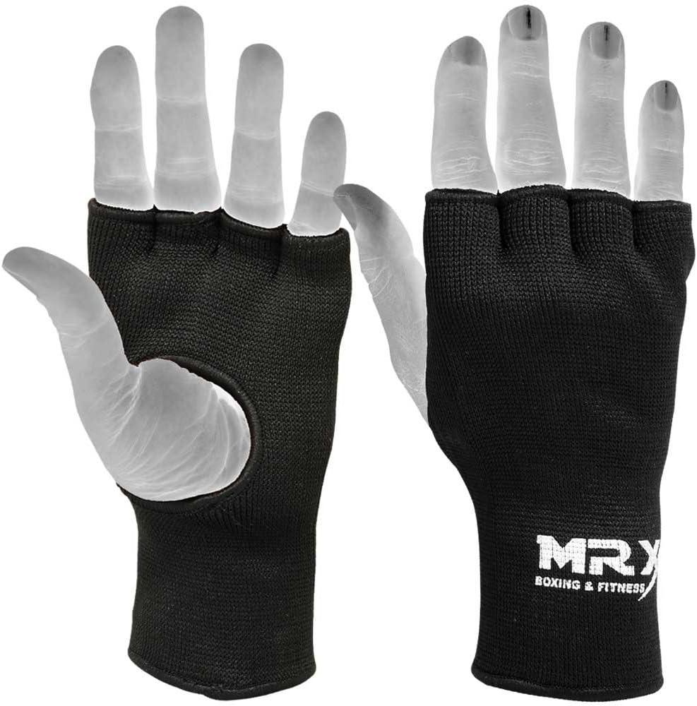 Boxing Fist Hand Inner Gloves MMA MuayThai Protective Wraps Elasticated G1 Black