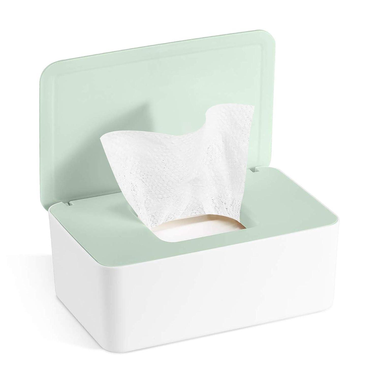Grau Feuchtt/ücher-Box,Toilettenpapier Box,Kunststoff Feuchtt/ücher Spender,Baby Feuchtt/ücherbox,Baby T/ücher Fall,Tissue Aufbewahrungskoffer,Taschentuchhalter,T/ücherbox,Serviettenbox