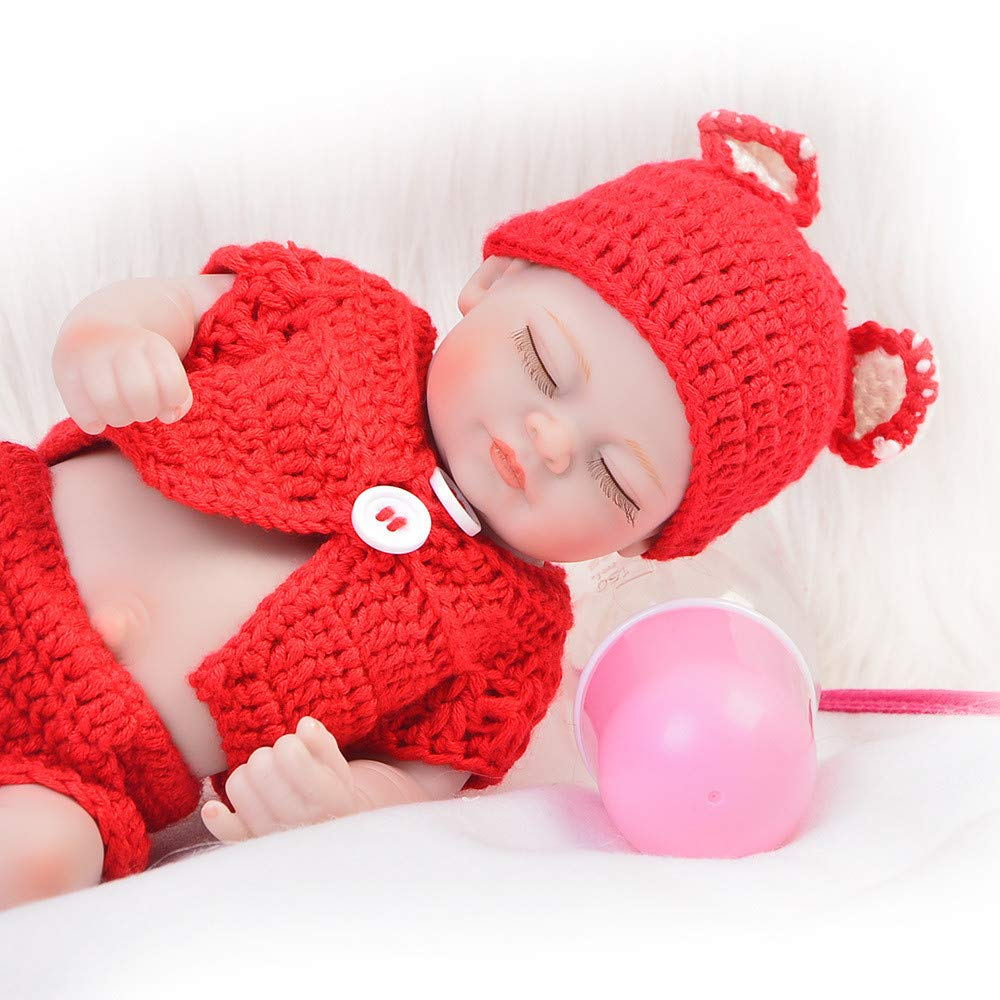 Unexceptionable-Dolls Babypuppen,11 '' Realistische Weihnachtsmann Zwillinge Mädchen Und Jungen Volle Silikon Vinyl Körper Puppe Babys Geboren Weihnachten Spielzeug Geburtstagsgeschenk