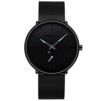 739e449a96eabe Men's Watch Unisex Minimalist Watch Waterproof Watch Classic Gift Mesh with  Blue Pointer