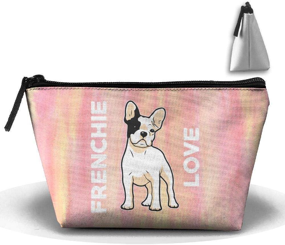 Frenchie Love Cute - Bulldog francés Bolígrafo Papelería Estuche de lápices Bolsa de maquillaje cosmético: Amazon.es: Belleza