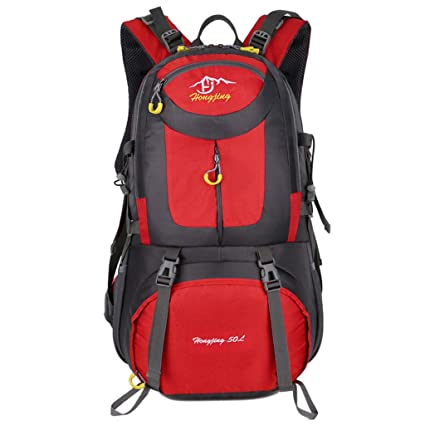 fb2b16d44d Image Unavailable. Image not available for. Color  WGKUMMQN Mountaineering  Backpack40L 50L 60L Outdoor Large Capacity Waterproof Lightweight Hiking  Travel ...