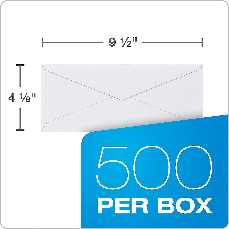 White 4 1//8 x 9 1//2 Columbian CO196 Gummed Seal Business Envelope #10 Box of 100