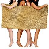 Animal Fur Textures Pattern Premium 100% Polyester Large Bath Towel, Pool And Bath Towel (80'' X 130'') Natural, Soft, Quick Drying