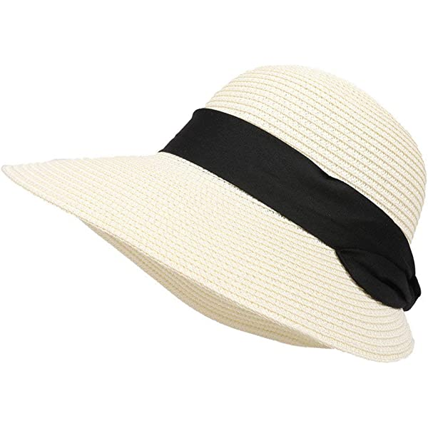 Pamelas Primavera y Verano Hombres y Mujeres Moda Transpirable Aleros Anchos al Aire Libre Sombrero de Sol Superior Plano Protector Solar Ajustable Panam/á Sombrero de Paja Vacaciones en el mar